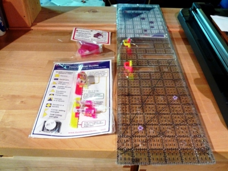 I still haven't used this newer version of the Guidelines for Quilting Ruler System...