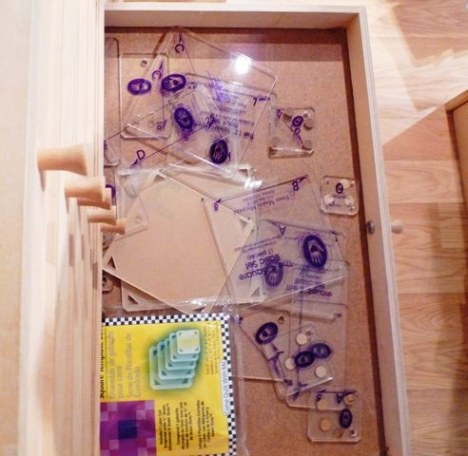 A drawer full of marti michel templates